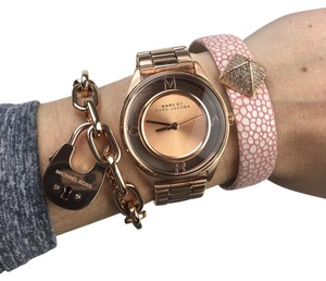 Marc Jacobs Marc Jacobs tether rose gold skeleton watch