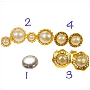 Chanel CC Pearl Earring and Ring Set