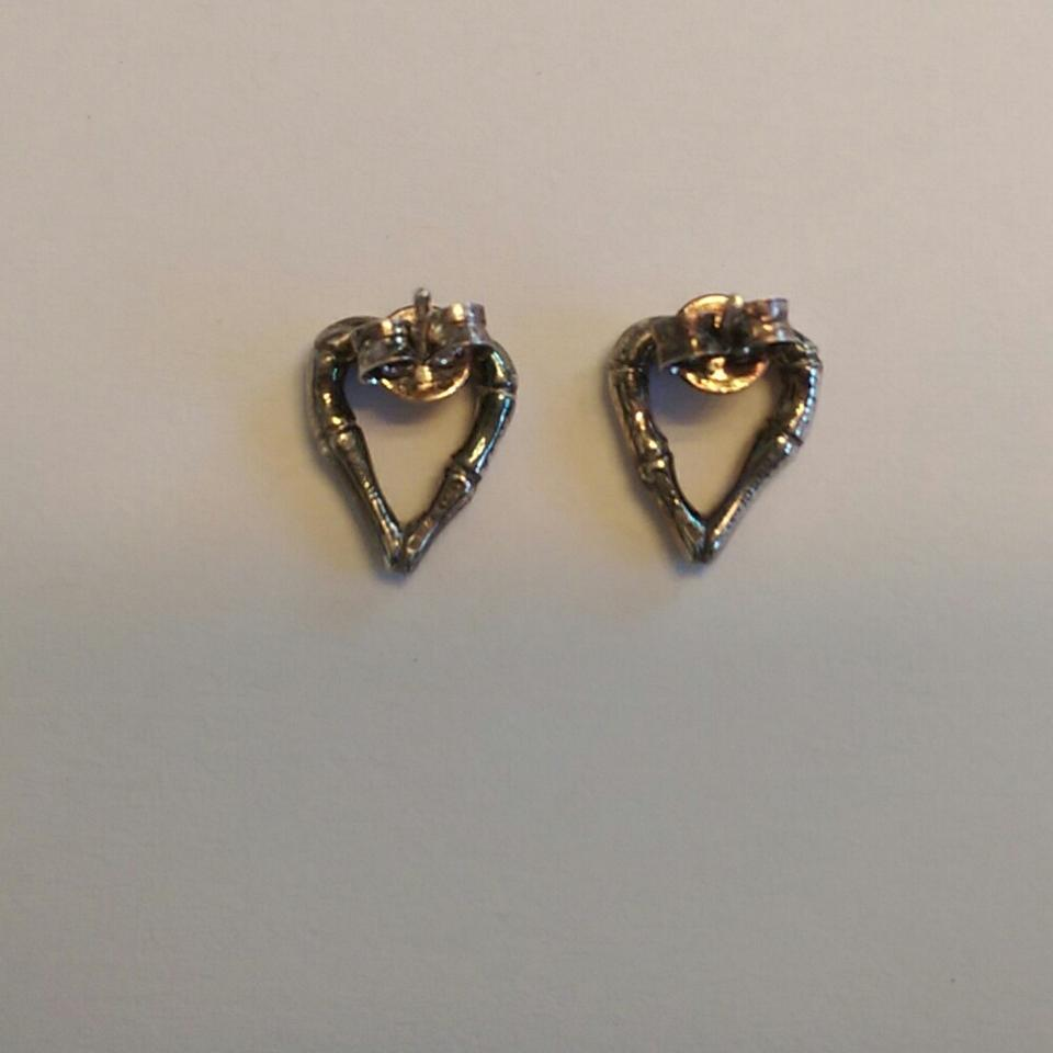 55a4d91dadf Gucci Certifies Gucci Bamboo Heart Earrings in sterling silver Image 4.  12345
