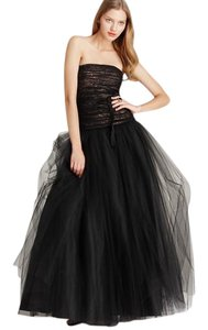 Monique Lhuillier Strapless Tulle Gown Ball Gown Dress
