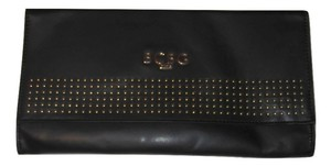 BCBG Paris Envelope Gold Studded Black Clutch