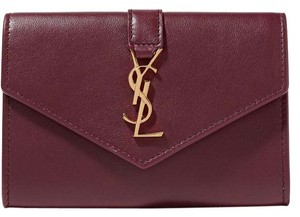 Saint Laurent New YSL Monogram Envelope Leather Wallet