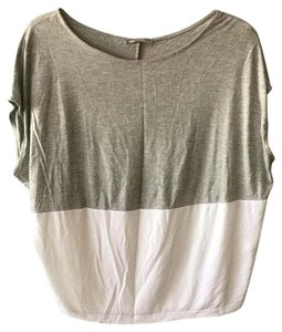 Zara T Shirt Gray, white