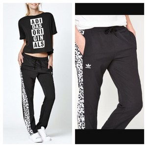 adidas Adidas inked active black white track pants
