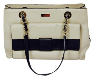 Kate Spade Leather Bookstripe Shoulder Bag