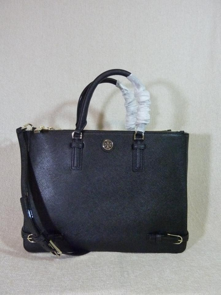 Multi Tory Leather Large Saffiano Tote Robinson Black Burch qqztn4PxS