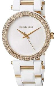 Michael Kors Michael Kors white gold glitz delray watch