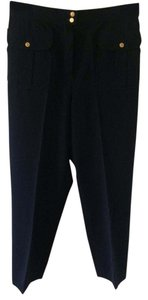 Chanel Trousers Dress High Waist Relaxed Pants Black
