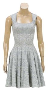 ALAÏA short dress Silver on Tradesy