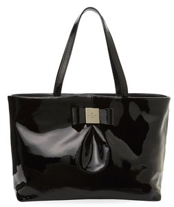 Kate Spade Evie Patent Leather Tote in Black