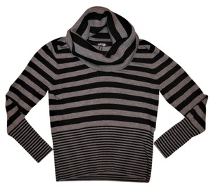 Apt. 9 Stretch Ribbed Stripes Cowl-neck Sweater