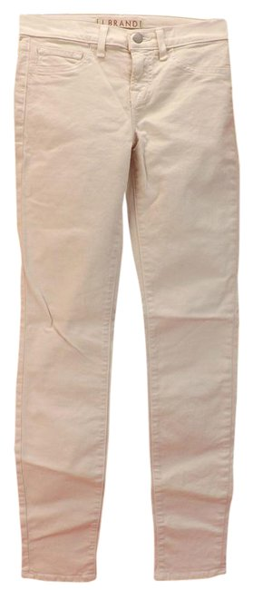 "Item - Peach Pastel/Romantic Light Wash 811 Mid Rise 11"" Leg Opening Skinny Jeans Size 28 (4, S)"