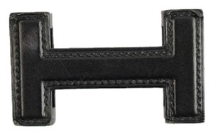 Hermès Leather Wrapped H Logo Buckle 85HER826