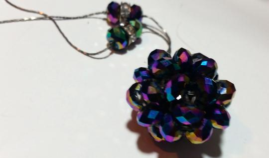 Other New Crystal Disco Ball Necklace Long Length N4019 Image 1