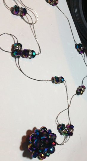 Other New Crystal Disco Ball Necklace Long Length N4019 Image 2