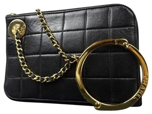 Chanel Wristlet in Black x Beige