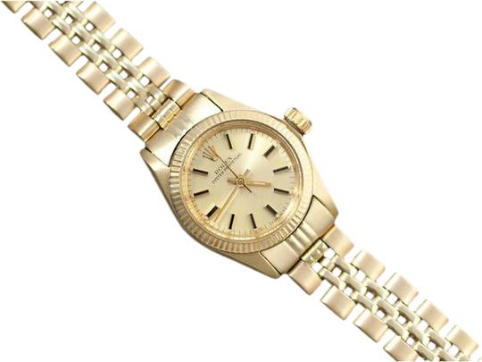 Preload https://img-static.tradesy.com/item/20506682/rolex-champagne-ladies-oyster-perpetual-dial-ref-6719-14k-gold-watch-0-1-540-540.jpg
