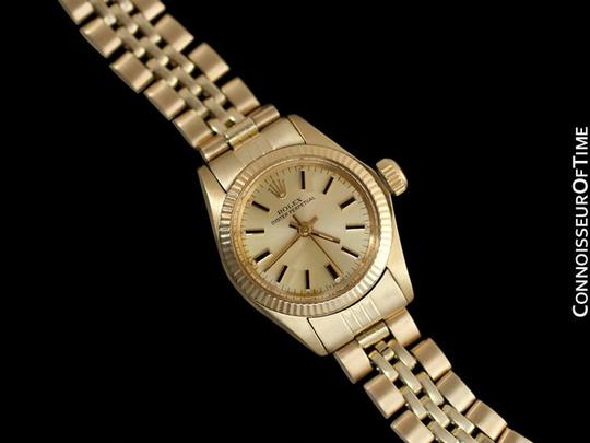Rolex Rolex Ladies Oyster Perpetual Champagne Dial Ref. 6719 - 14K Gold Image 1