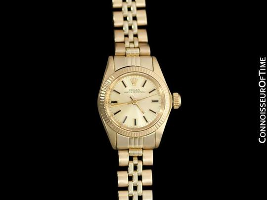 Rolex Rolex Ladies Oyster Perpetual Champagne Dial Ref. 6719 - 14K Gold Image 2