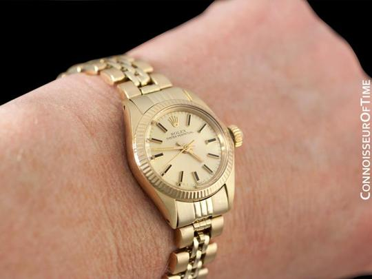 Rolex Rolex Ladies Oyster Perpetual Champagne Dial Ref. 6719 - 14K Gold Image 8