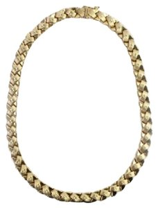 Other 14k Gold X Necklace 125MISA1014