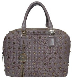 Versace Satchel in Lilac / Purple / Gold