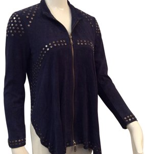 Rebecca Minkoff Navy Blue Leather Jacket