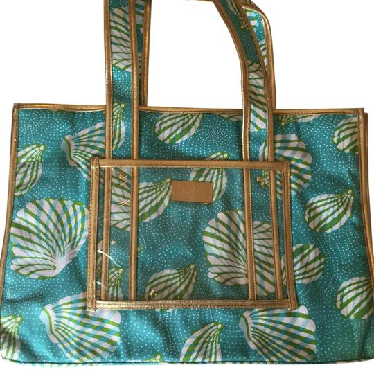 Preload https://img-static.tradesy.com/item/20506842/lilly-pulitzer-aquamarine-blue-white-gold-sea-breeze-tote-bag-scarfwrap-0-1-540-540.jpg