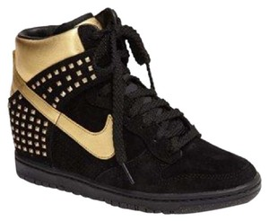 Nike Black and gold Wedges