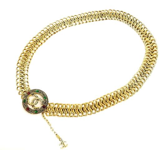 Chanel Vintage Chanel Gripoix Chain Belt, Necklace Very Rare Image 2