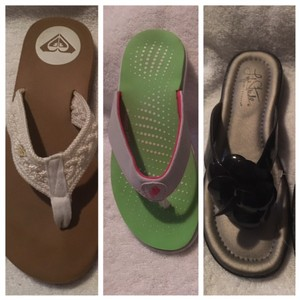 Roxy 3 Pair Bundle Buy 1 Get 3 multi Sandals