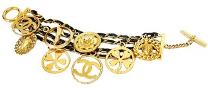 Chanel Vintage Chanel Icon Charm Gold Chain Bracelet Rare