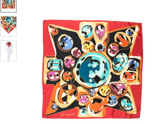 Kenneth Jay Lane KENNETH JAY LANE SILK PRINTED SCARF WITH TAGS Image 1