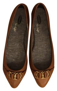 Dr. Scholl's Brown Brown Comfortable Camel Flats