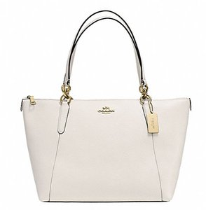 Coach Satchel Leather Satchel Tote in Chalk