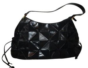 Sereta Leather Patchwork Hobo Shoulder Bag