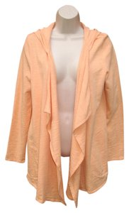 J. Jill French Terry Open Front Cascade Hoodie Cardigan