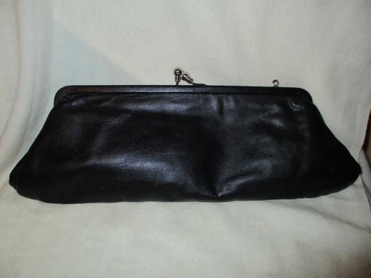Arden B. Emboidered Leather Sequin Beads black multi Clutch Image 4