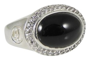 David Yurman David Yurman Sterling Silver .48tcw Black Onyx Diamond Ring