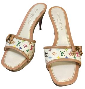 Louis Vuitton Monogram Lv Heels Beige Sandals