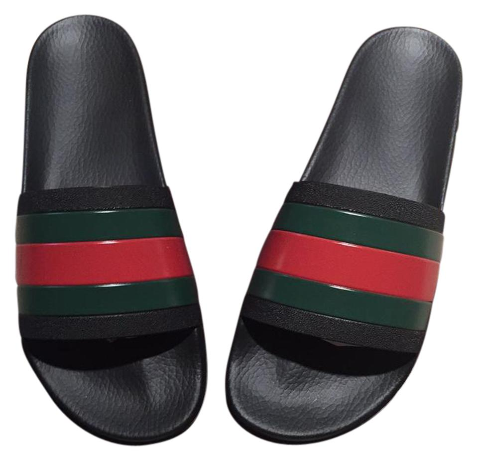 828baaa8e32fe1 Gucci Black Men s Rubber Slides. Never Worn In Box with Duster. Sandals