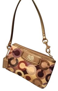 Coach Multi-colored and Sequined Monogram Clutch