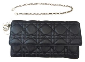 Dior Woc Wallet On Chain Black Clutch