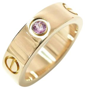 Cartier Cartier LOVE Rose Gold Ring with Pink Sapphire