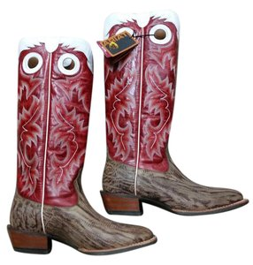 Ariat Western Cowboy Fun Old West Classic Dry Gulch Tan/Red Glaze Boots
