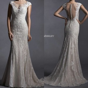 Maggie Sottero Maggie Soterro Lace Illusion Back Gown Wedding Dress