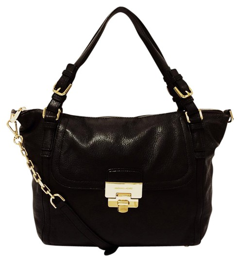MICHAEL Michael Kors Top Leather Satchel in Black Image 0