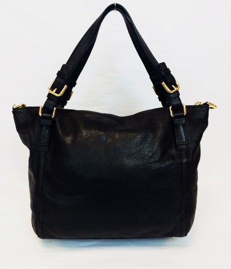 MICHAEL Michael Kors Top Leather Satchel in Black Image 11