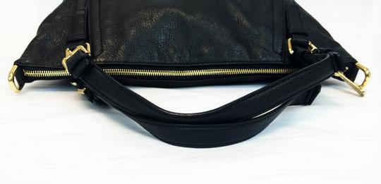 MICHAEL Michael Kors Top Leather Satchel in Black Image 5