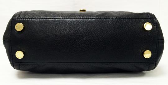 MICHAEL Michael Kors Top Leather Satchel in Black Image 7